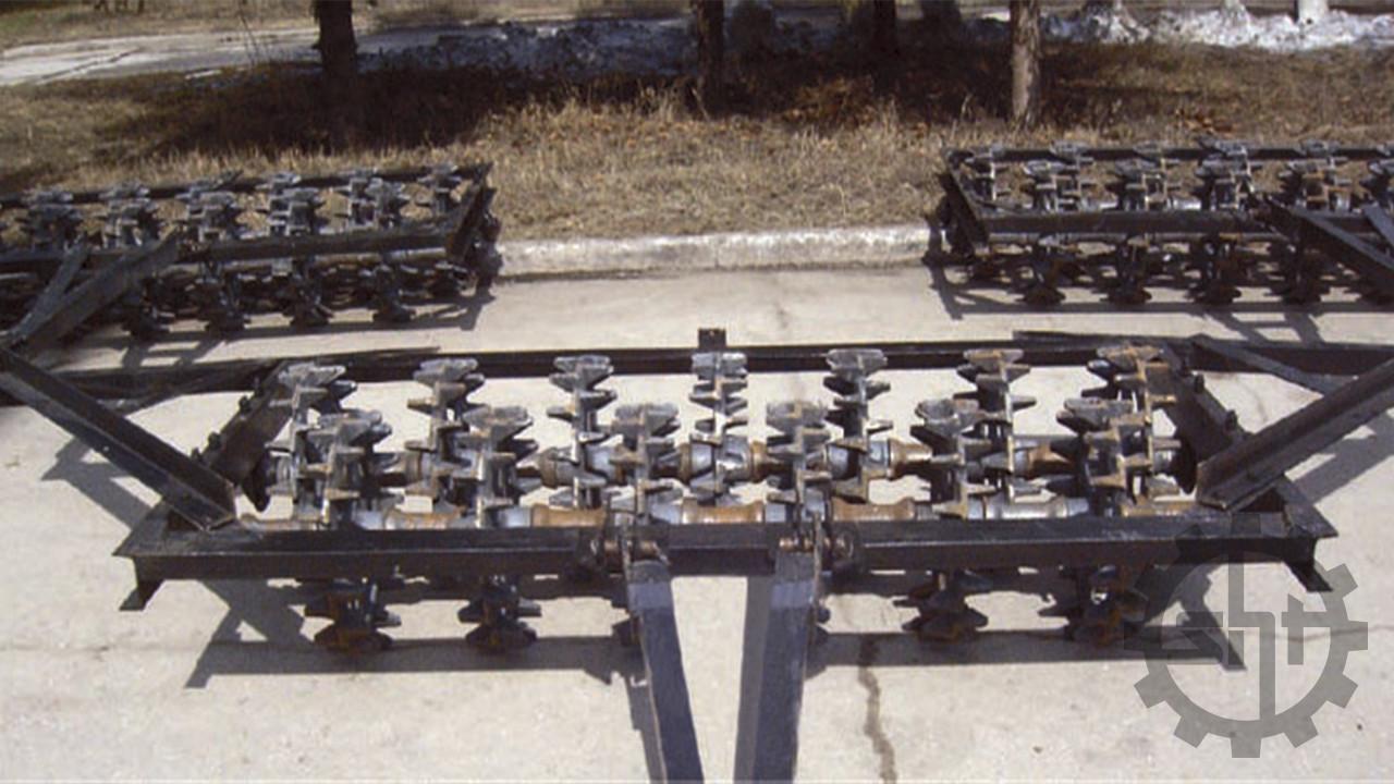 Каток кольчато-шпоровый трехсекционный 3 ККШ-6