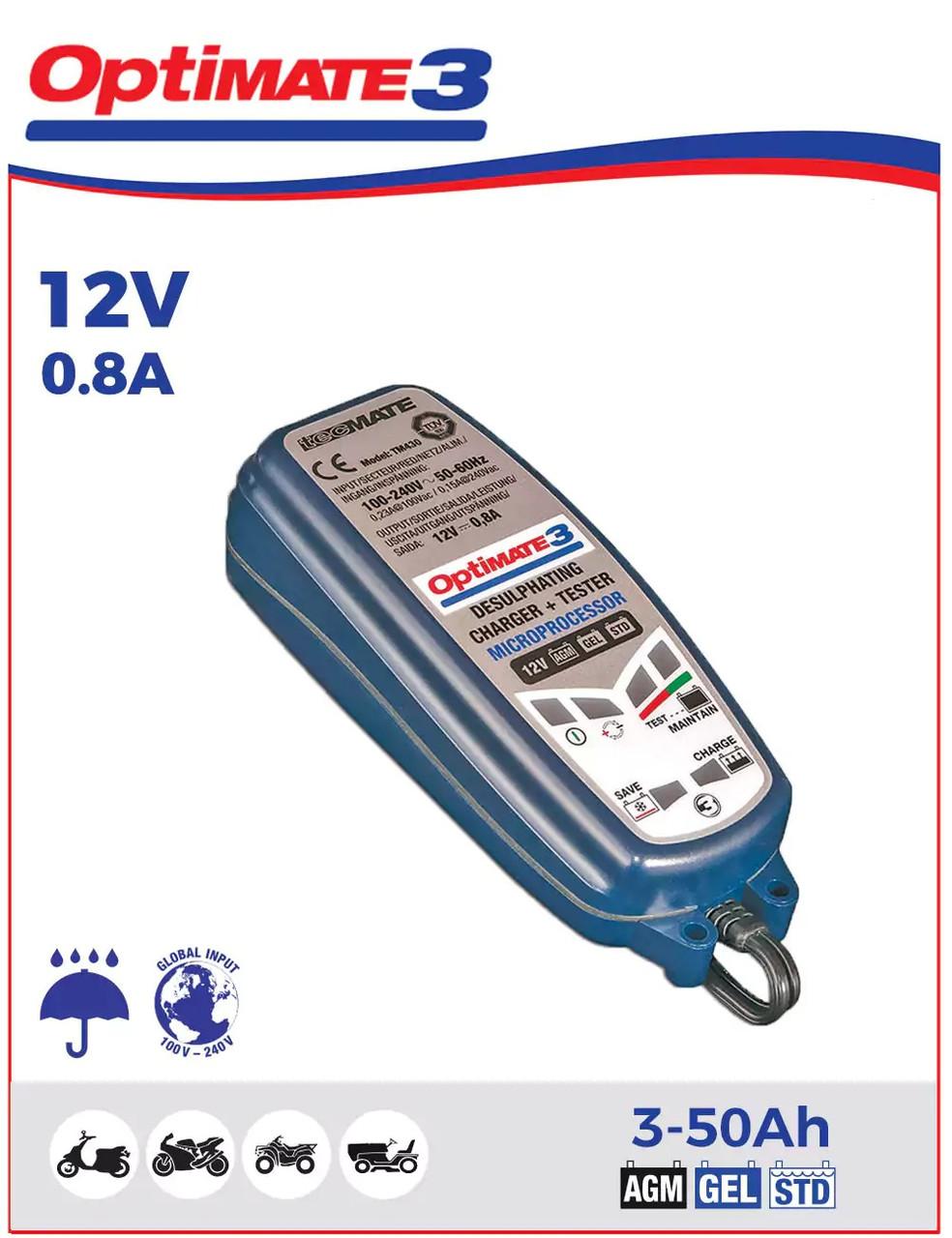 Зарядное устройство ™OptiMate 3 TM430 (1x0,8A, 12V)