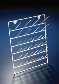 Стеллаж для сушки лабораторной посуды (38 штыря двух типов), 410х300 мм, сталь, покрытая эпоксидной краской (Azlon)