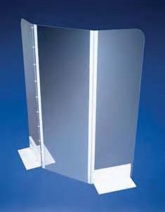 Экран защитный створчатый с ножками, W-590 мм, H-380 мм, поликарбонатный (Azlon)
