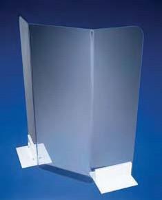 Экран защитный с ножками, W-590 мм, H-608 мм, поликарбонатный (Azlon)
