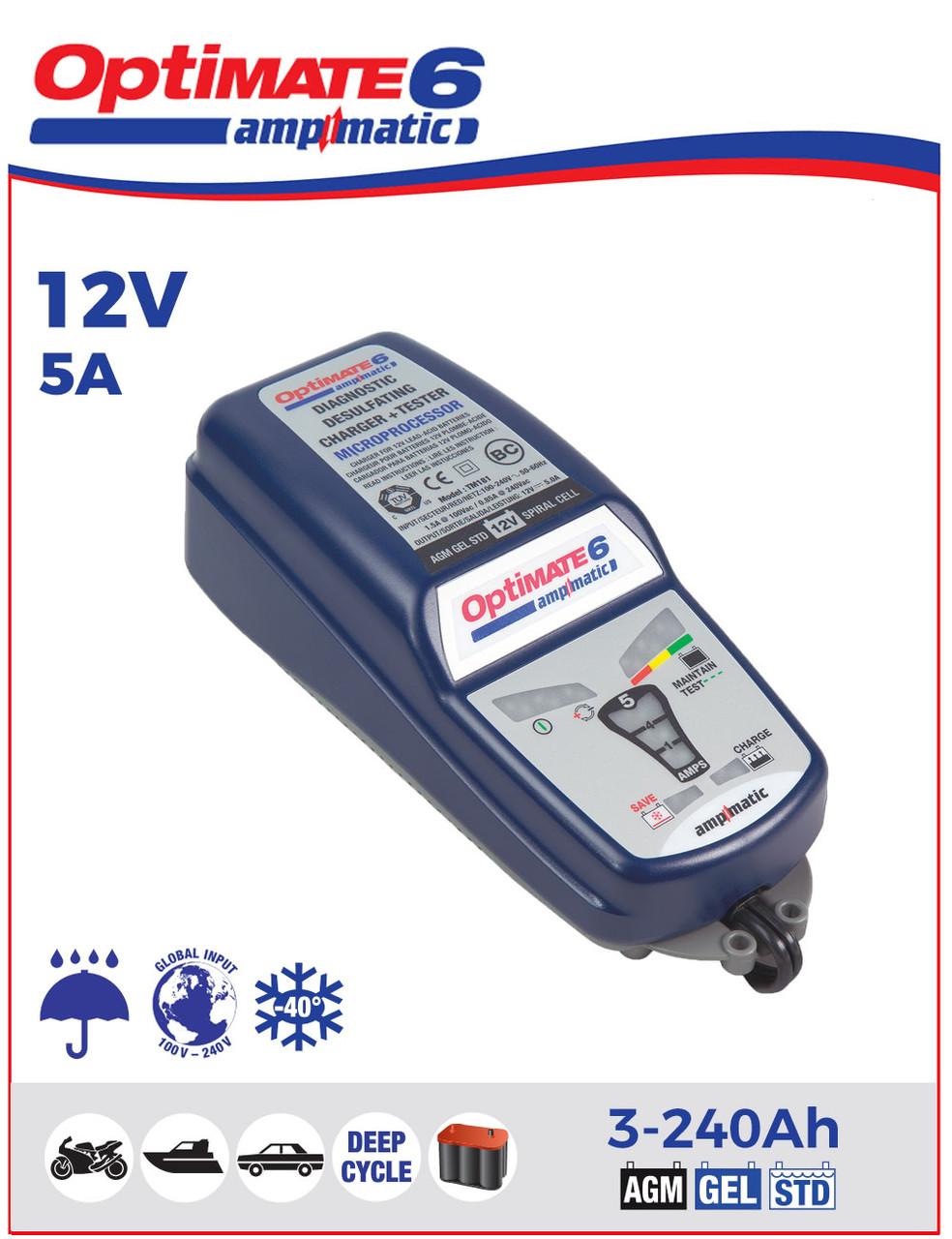 Зарядное устройство ™OptiMate 6 TM180SAE (1x0,4-5,0А, 12V)