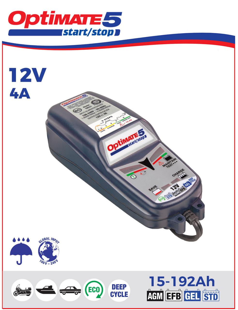 Зарядное устройство ™OptiMate 5 4А Start-Stop TM220 (1x4A, 12V)