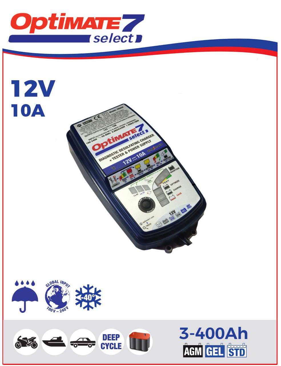 Зарядное устройство ™OptiMate 7 Select TM250 (1x10А, 12V)