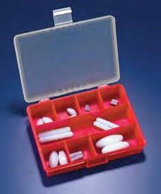 Набор якорей для магнитных мешалок в чемодане (22 самых популярных якоря из PTFE) (Azlon)