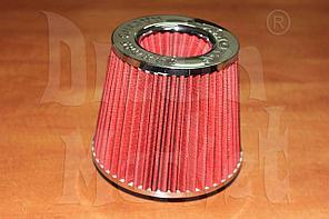 Фильтр нулевого сопротивления Simoto 0425-R, диаметр гофры 75 мм, высота 155 мм, красный