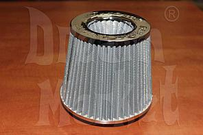 Фильтр нулевого сопротивления Simoto A0425-CH, диаметр гофры 75 мм, высота 155 мм, хром