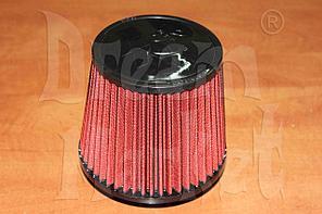 Фильтр нулевого сопротивления K&N 14084-2, диаметр гофры 75 мм, высота 165 мм, красный