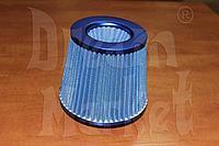 Фильтр нулевого сопротивления Racing, диаметр гофры 75 мм, высота 155 мм, синий, фото 1