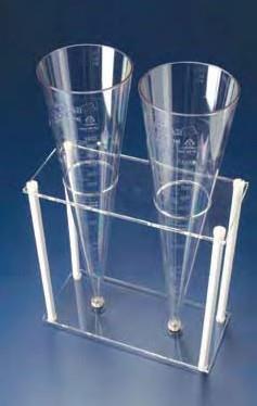 Конус седиментационный Имхофа 1000 мл, рельефная градуировка, винт.колпачек на наконечнике, SAN (Azlon)