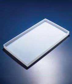 Лоток пластиковый, белый, 350х250х22 мм (PP) (Azlon)