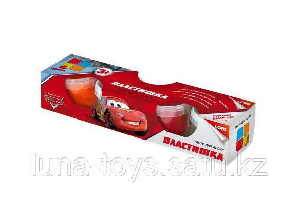 """Тдд-006 Тесто для лепки Disney """" Тачки"""" 4 цв. по 80 гр."""