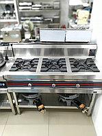 Промышленная 3 конфорочная газ плита