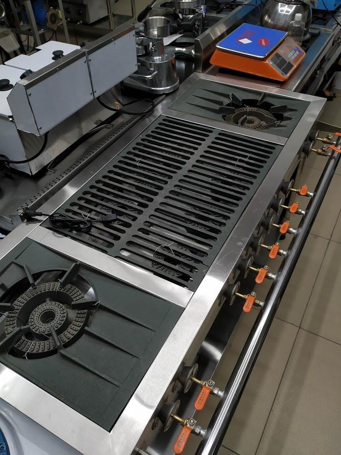 Промышленные газовые плиты 10 конфорок