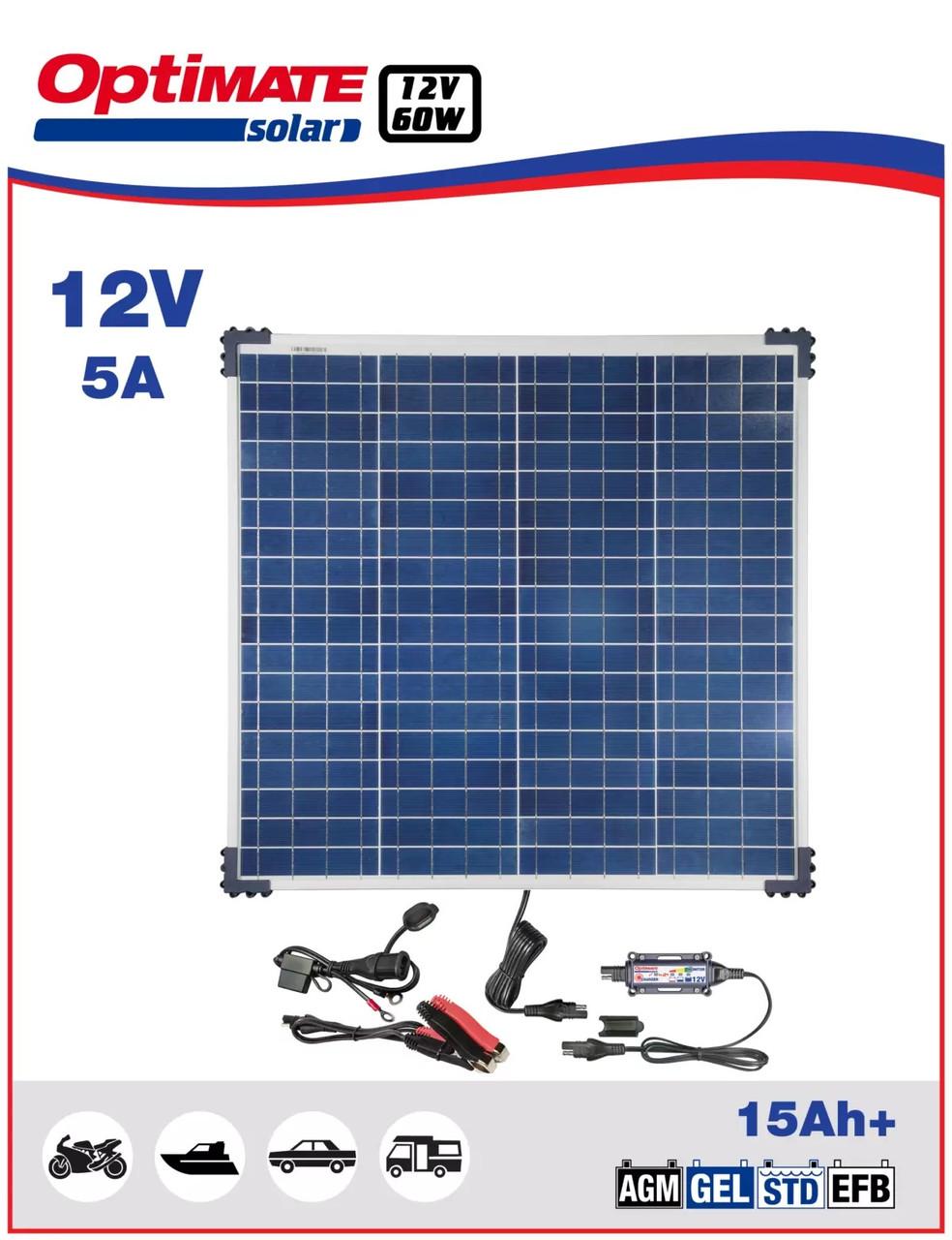 Солнечное зарядное устройство Optimate SOLAR 60W TM523-6KIT1
