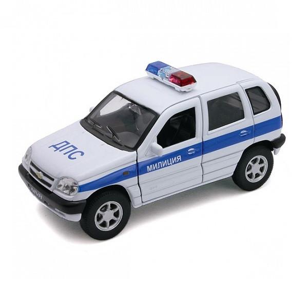1/37 Welly Модель машины Chevrolet Niva ДПС