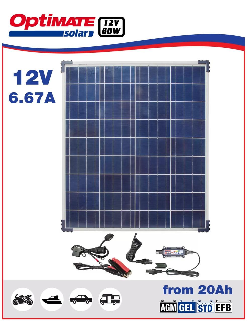 Солнечное зарядное устройство Optimate SOLAR 80W TM523-8KIT1