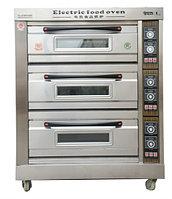 Пекарский шкаф промышленный 3-секционный электрический, фото 1
