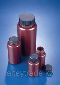 Бутыль широкогорлая полипропиленовая, темная, V-60 мл, для хранения светочувствительных в-в, с винт.крышкой (Azlon)