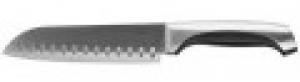 """Нож LEGIONER """"FERRATA"""" """"Сантоку"""", рукоятка с металлическими вставками, лезвие из нержавеющей стали, 175мм"""