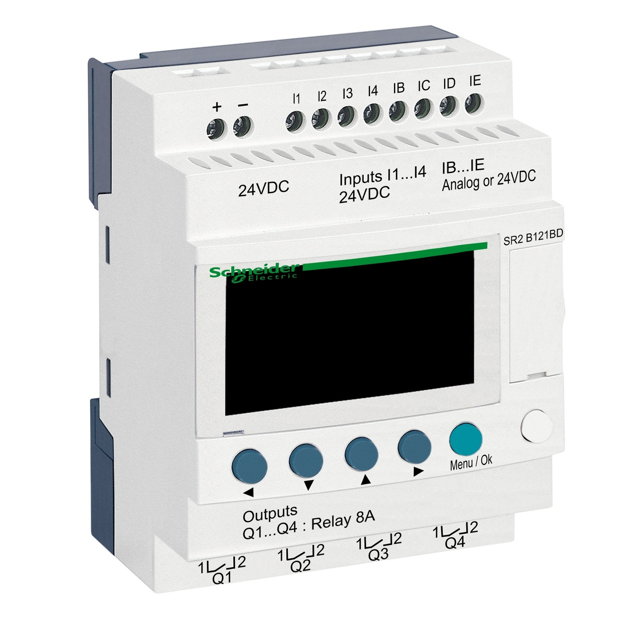 Zelio Logic компактное интеллектуальные реле 12 входов/выходов 24В DC, с дисплеем