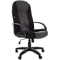 Кресло руководителя Chairman 785 PL, ткань черная TW-11+ серая TW-12, механизм качания, фото 1