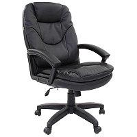Кресло руководителя Chairman 668 LT, экокожа черная, механизм качания
