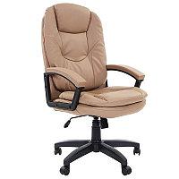Кресло руководителя Chairman 668 LT, экокожа бежевая, механизм качания, фото 1