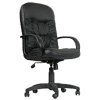 Кресло руководителя Chairman 416 PL, кожа Split черная, механизм качания