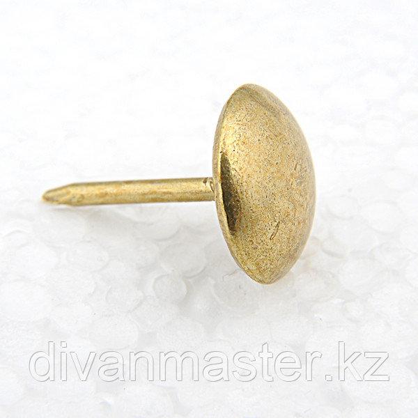 Гвозди декоративные 11 мм, античное золото - 1000 штук. Турция