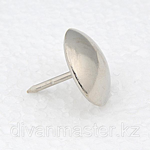 Гвозди декоративные 11 мм, никель - 1000 штук. Турция