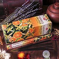 """Благовония """"HEM"""" 8 палочек угольные vanilla orange"""