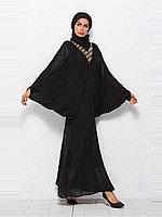 Стильное вечернее платье восточного стиля из шифона черного цвета