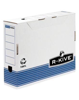 Переносной короб с крышкой R-Kive Prima 100mm A4 синий FastFold™. 100x315x260 мм, картон