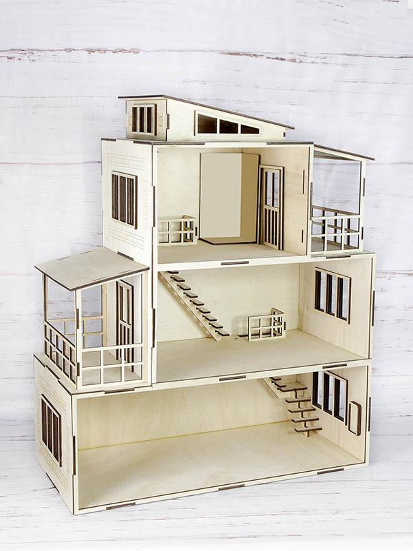 Кукольный домик из фанеры.
