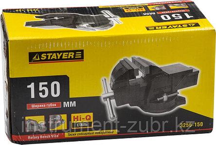 """Тиски STAYER """"MASTER"""" слесарные поворотные 150мм, фото 2"""