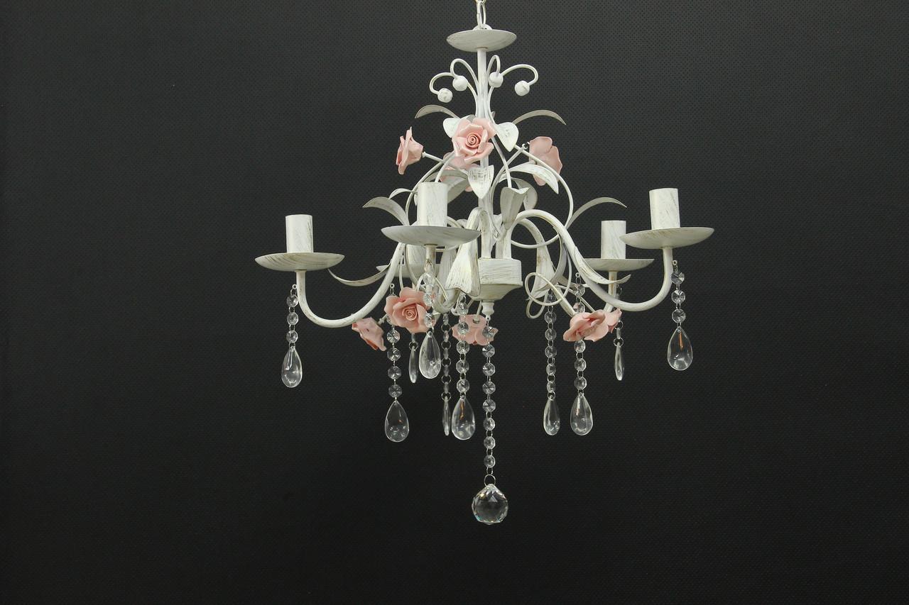 Люстра на 5 ламп классическая с розами