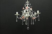 Люстра на 5 ламп классическая с розами, фото 1