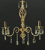 Классическая люстра на 3 лампы золото, фото 1
