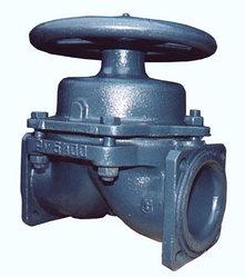 Клапан запорный мембранный футерованный фланцевый 15ч76п
