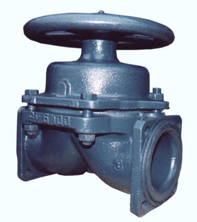 Клапан запорный мембранный футерованный фланцевый 15ч75п1м (75п)
