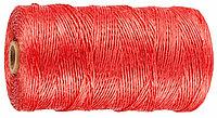 Шпагат STAYER многоцелевой полипропиленовый, красный, 800текс, 500м