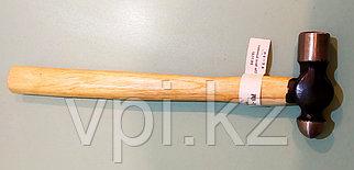 Молоток рихтовочный металлический, с деревянной ручкой  450гр. De&Li