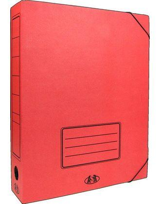 Папка архивная гофро с резинкой 75мм/ассорти