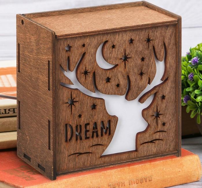 """Ночник деревянный """"Dream"""""""