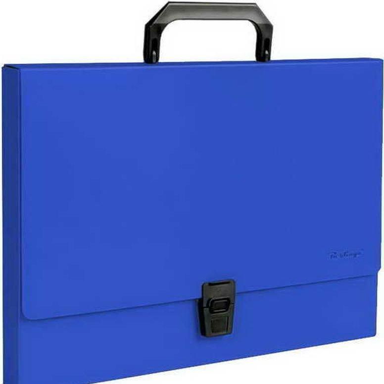 Папка портфель синий