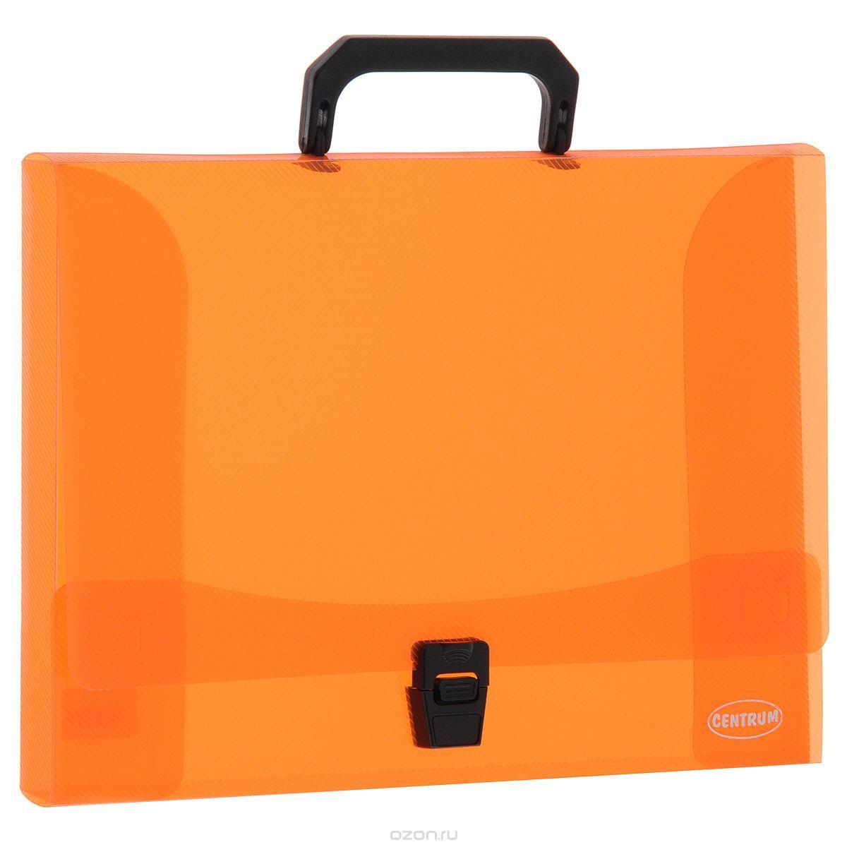 """Папка-портфель """"Centrum"""", с ручкой, цвет: оранжевый"""