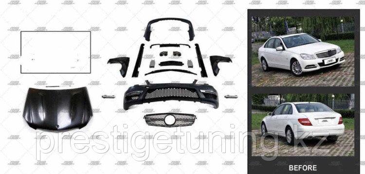 Обвес C63 AMG на C-class W204 Пакет рестайлинга