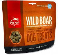 Сублимированное лакомство для собак всех пород Orijen Wild Boar Dog treats дикий кабан