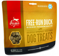 Сублимированное лакомство для собак всех пород Orijen Free-Run Duck Dog Treats утка